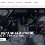 2017年全球至少81名记者殉职 逾250人下狱